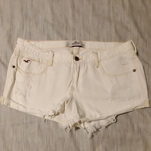 Hollister White cutoff denim shorts size 11